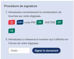 Procédure de signature